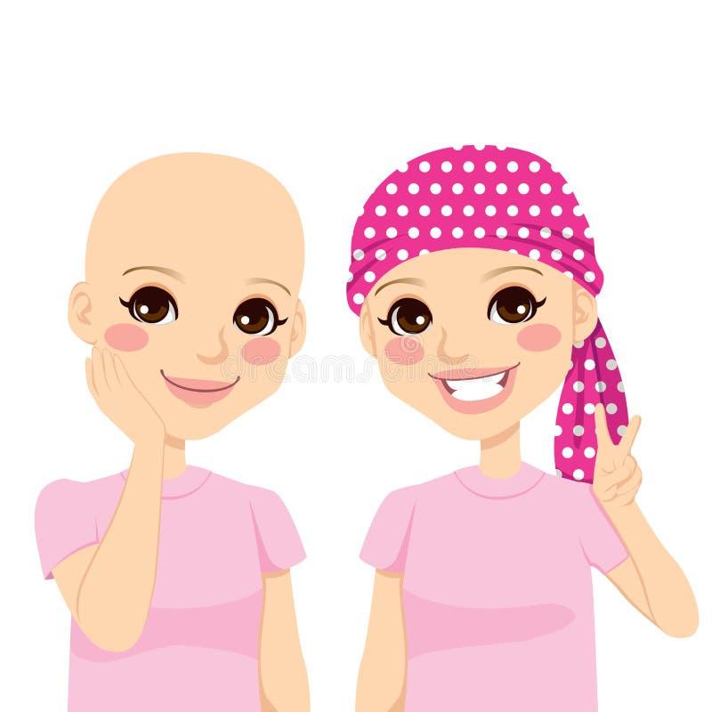 Jeune fille avec le Cancer illustration stock