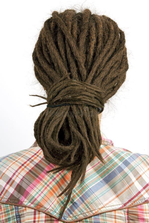 Jeune fille avec le cheveu dans dreadlocks image libre de droits