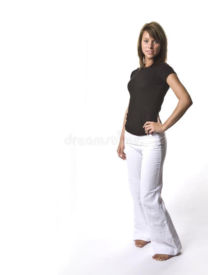 Jeune fille avec le copyspace photographie stock