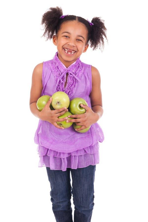 Jeune fille avec le fruit photographie stock libre de droits