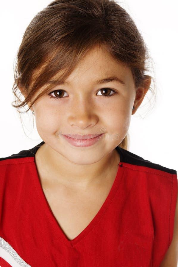 Jeune fille avec le joli sourire images libres de droits
