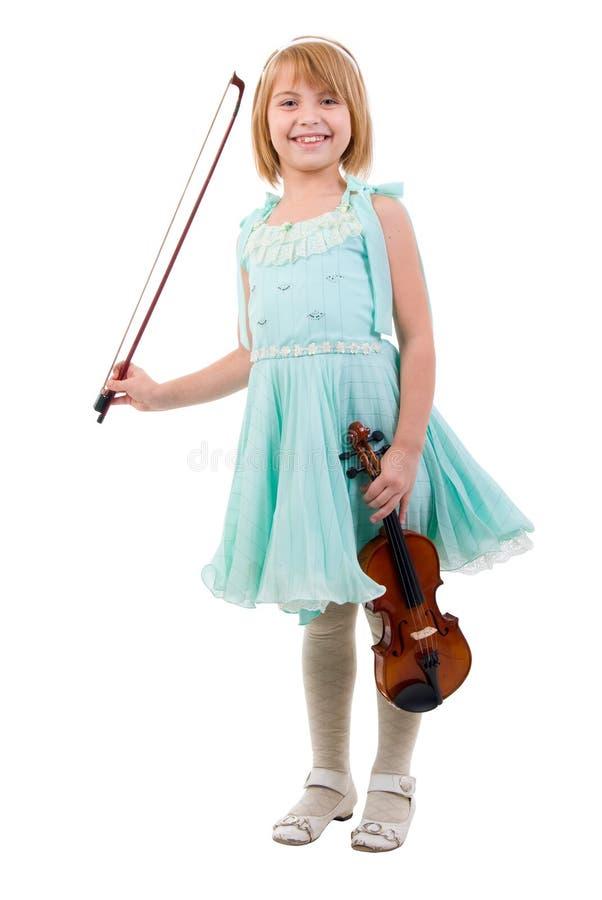 Jeune fille avec le violon. images stock
