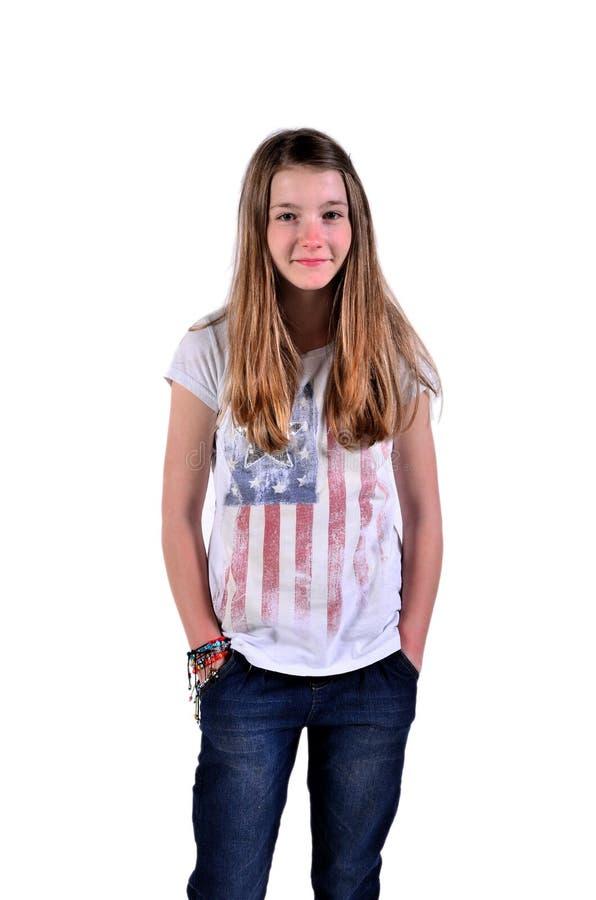 Jeune fille d'adolescent image stock