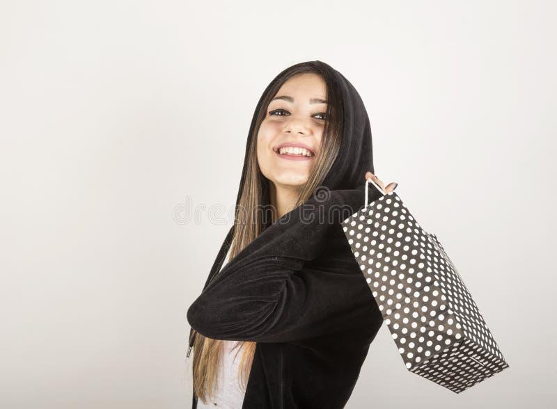 Jeune fille dans le studio photo stock