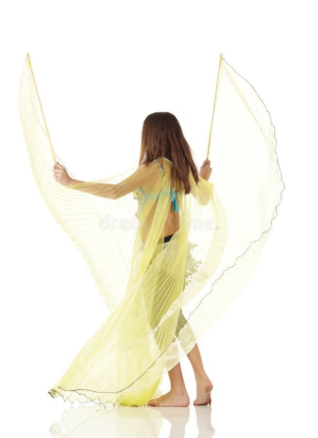 Jeune fille de danse de ventre images libres de droits