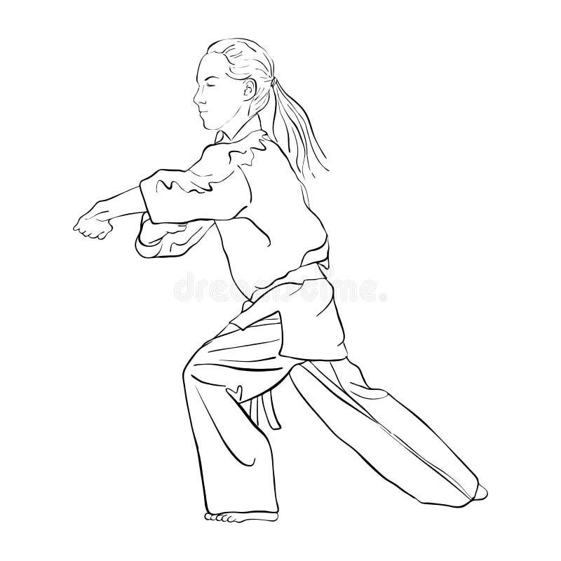 Jeune fille de karaté illustration libre de droits
