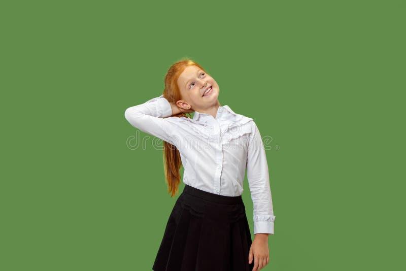 Jeune fille de l'adolescence réfléchie sérieuse Concept de doute photographie stock