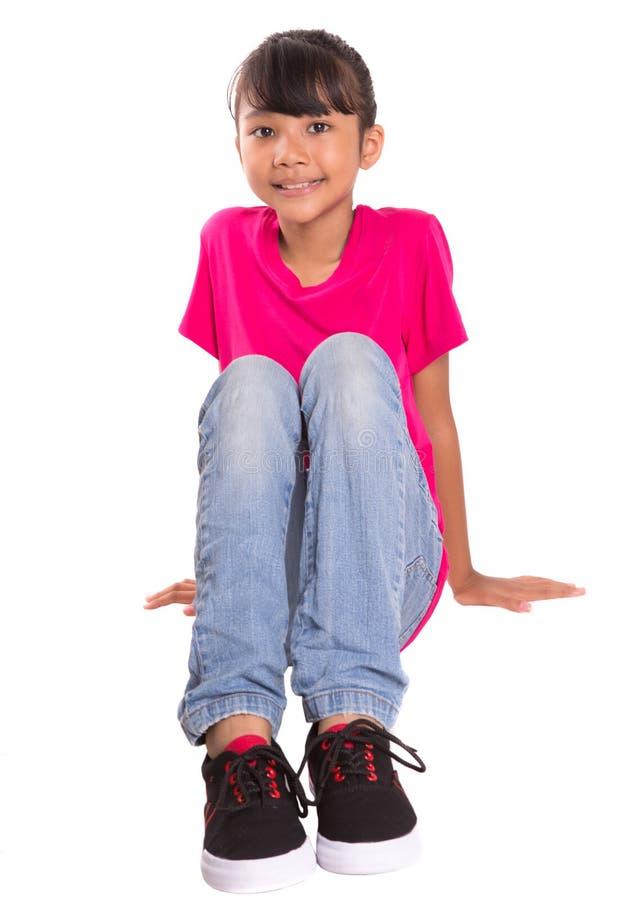 Jeune fille de visage heureux II image stock
