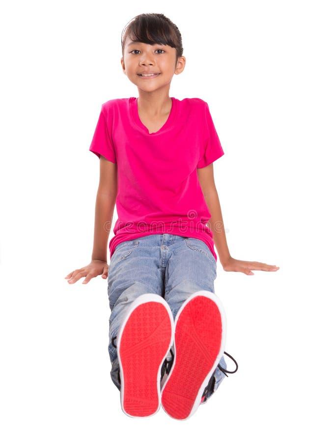 Jeune fille de visage heureux IX photos libres de droits