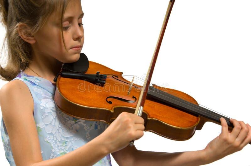 Jeune fille jouant le violon photographie stock libre de droits