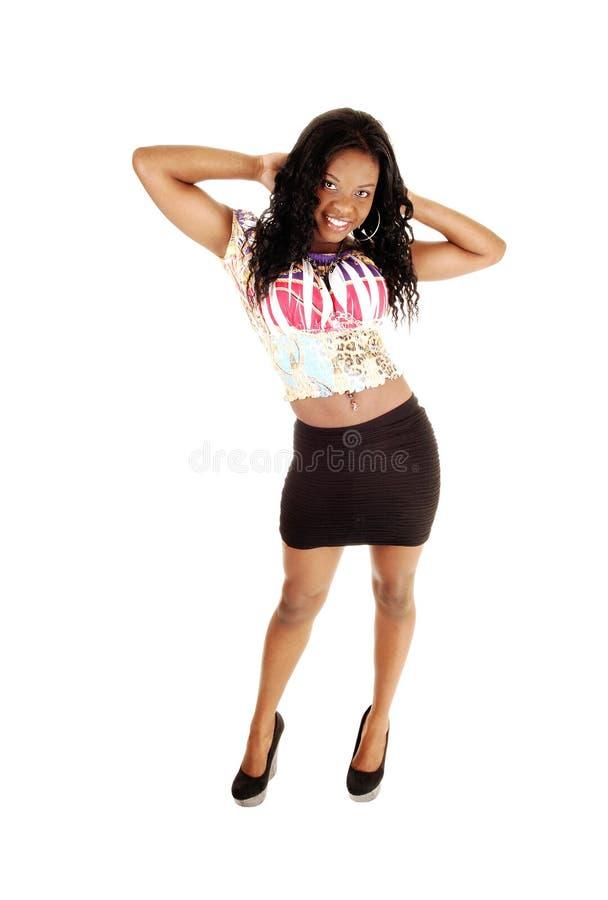 Jeune fille noire. image libre de droits