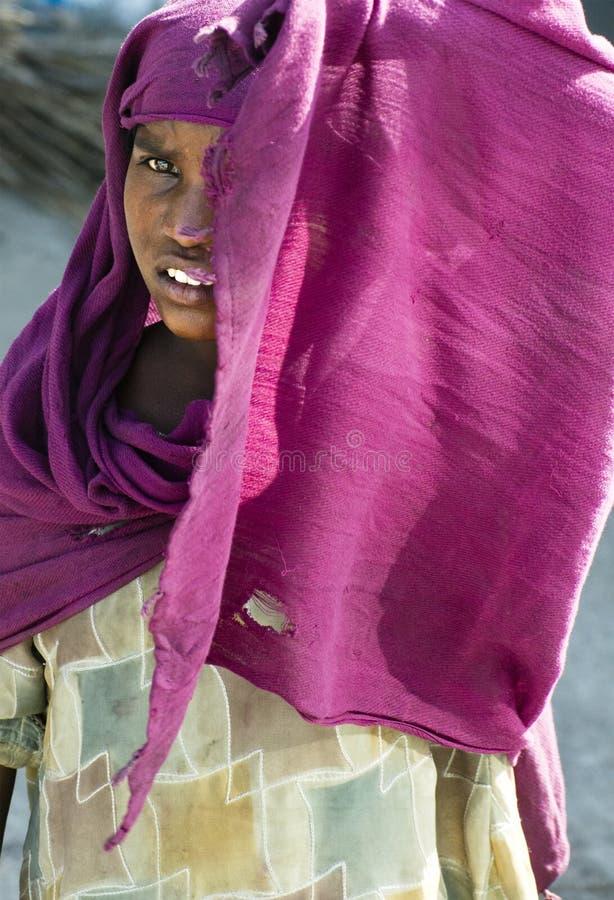 Jeune fille ou femme indoue, les gens de l'Inde photo libre de droits