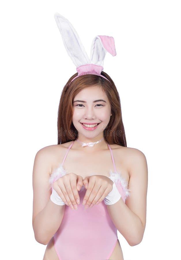 Jeune fille sexy dans la lingerie ou la fille de lapin photographie stock libre de droits