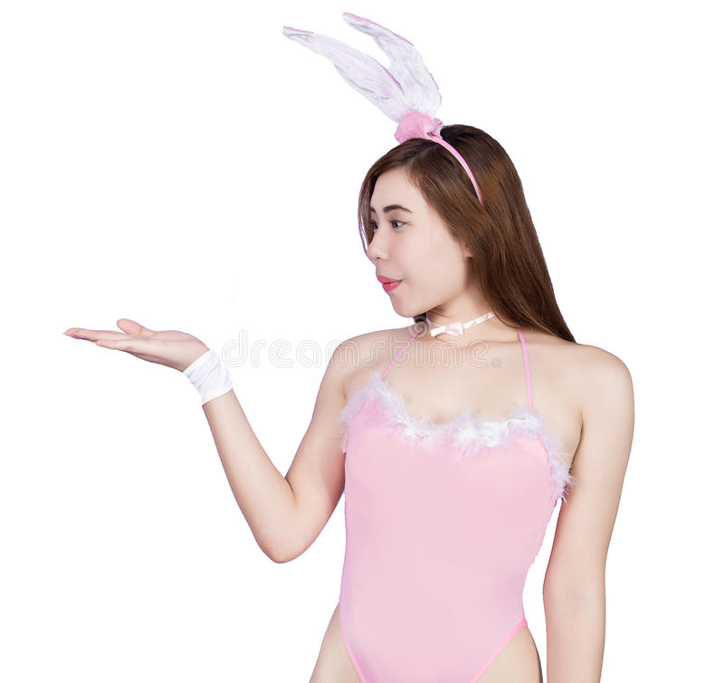 Jeune fille sexy dans la lingerie ou la fille de lapin images libres de droits