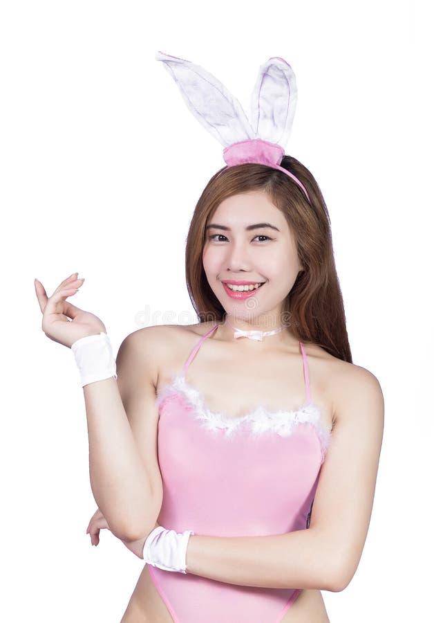 Jeune fille sexy dans la lingerie ou la fille de lapin photographie stock