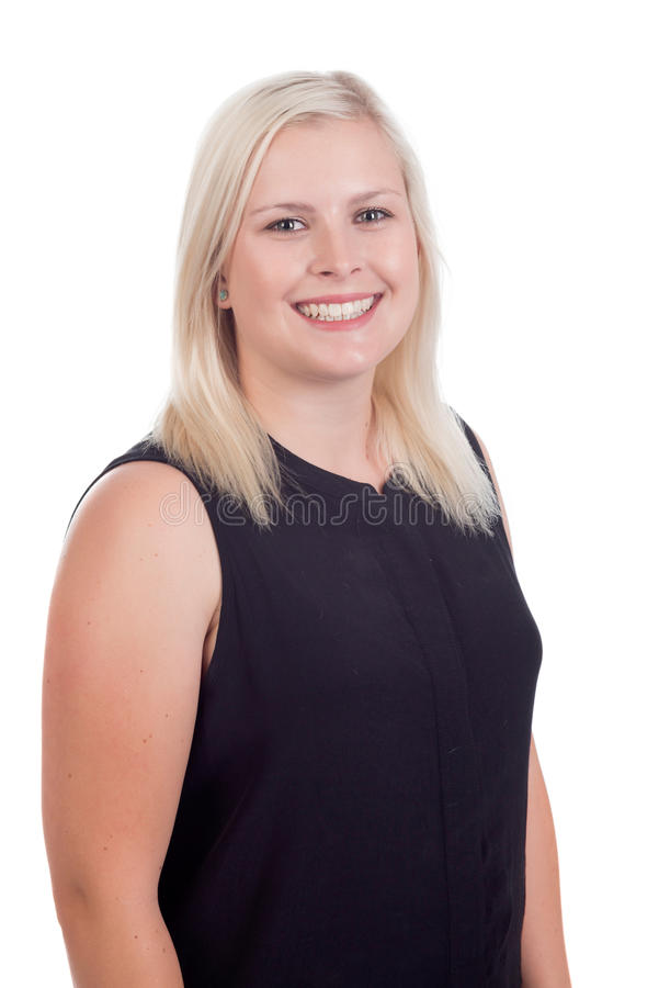 Jeune fin blonde de femelle  photographie stock libre de droits