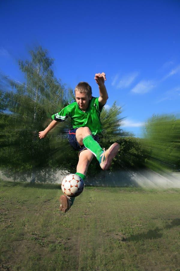 Jeune footballeur photos libres de droits