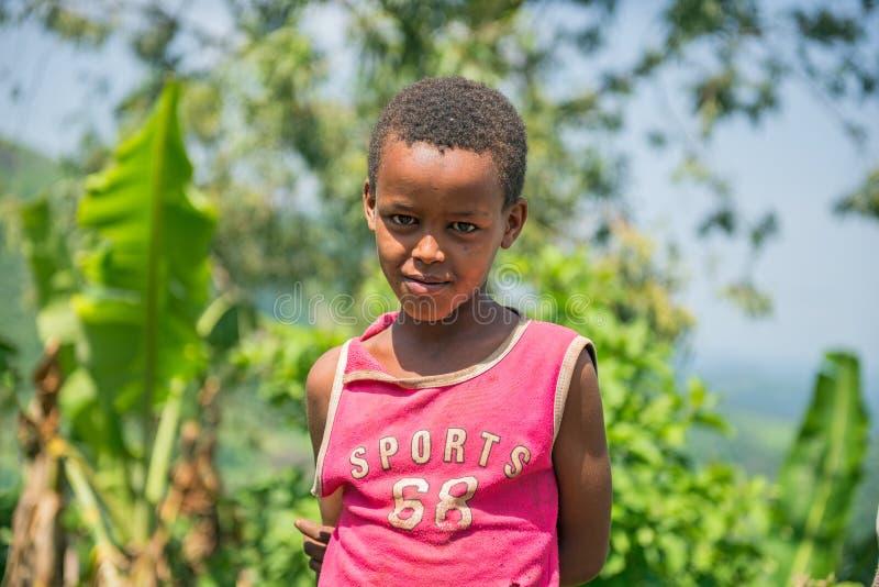 Jeune garçon éthiopien photos libres de droits