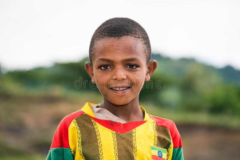 Jeune garçon éthiopien photographie stock libre de droits