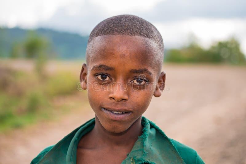 Jeune garçon éthiopien image libre de droits