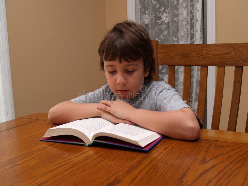 Jeune garçon affichant un livre photos stock
