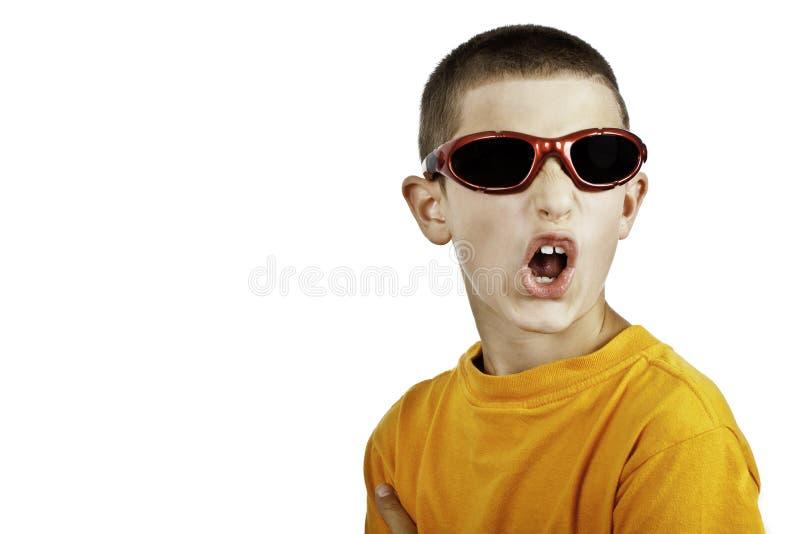 Jeune garçon arguying images stock