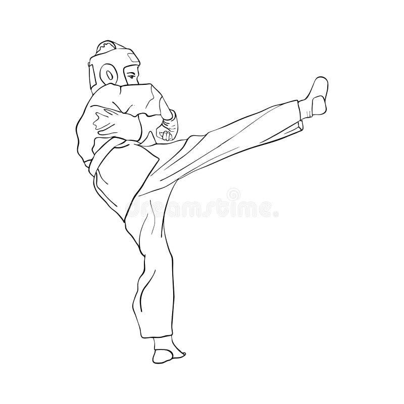 Jeune garçon de karaté illustration libre de droits