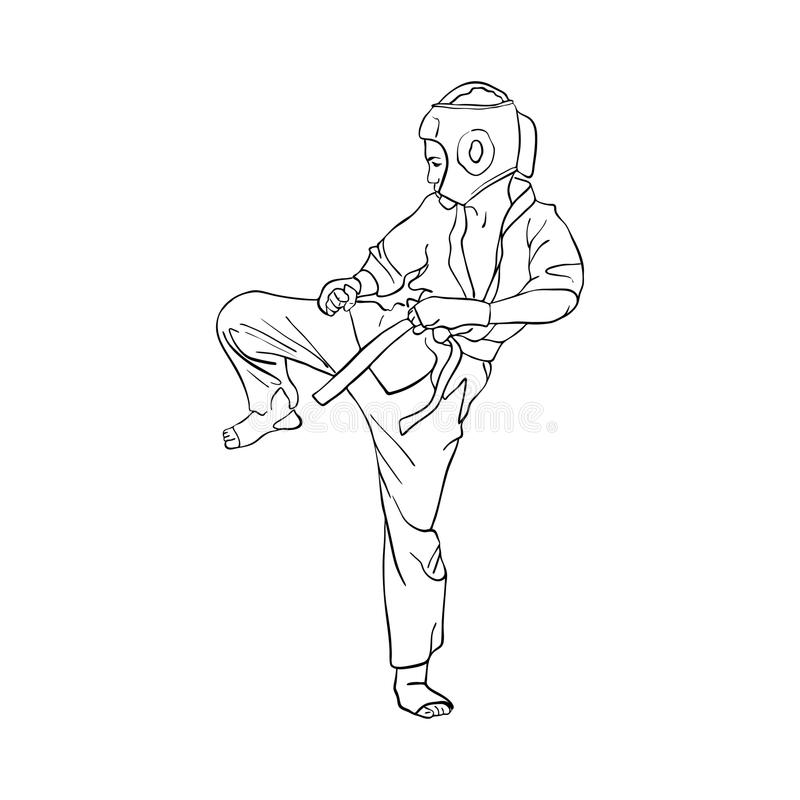 Jeune garçon de karaté illustration stock