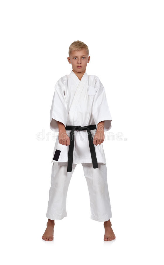 Jeune garçon de karaté photo libre de droits