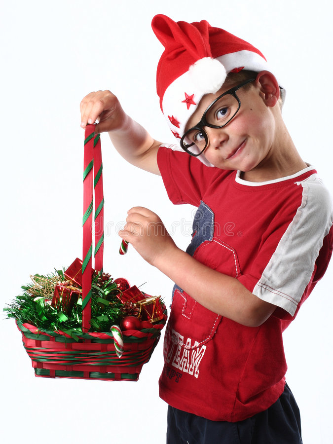 Jeune garçon de Noël photographie stock libre de droits