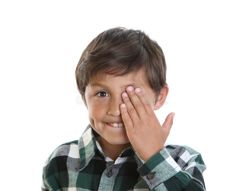 Jeune garçon de sourire heureux photo libre de droits