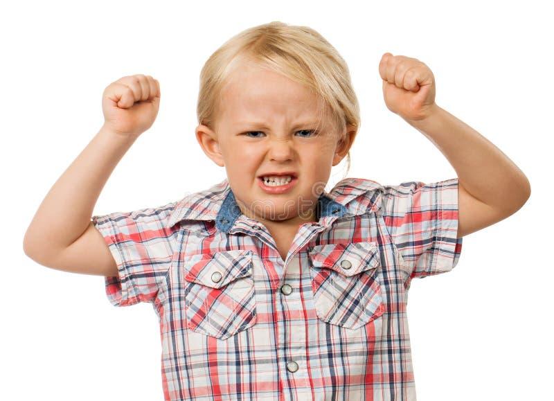 Jeune garçon fâché photographie stock
