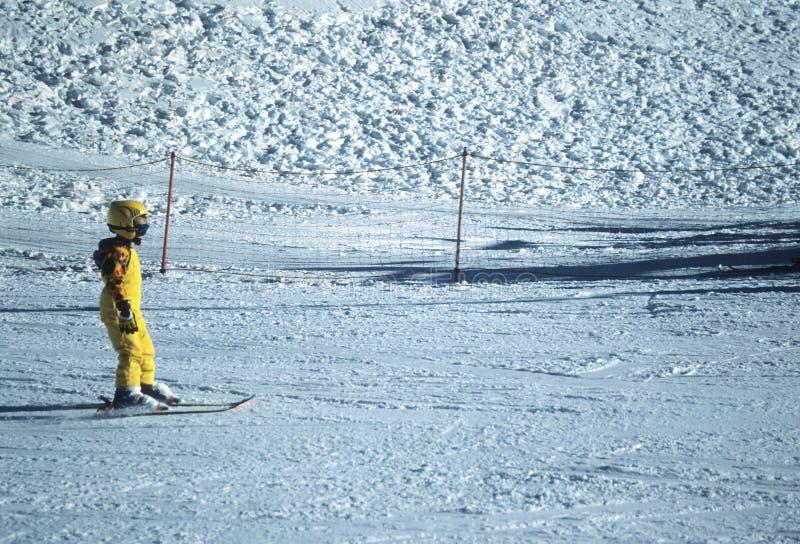 Jeune Garçon Sur Le Ski Image libre de droits
