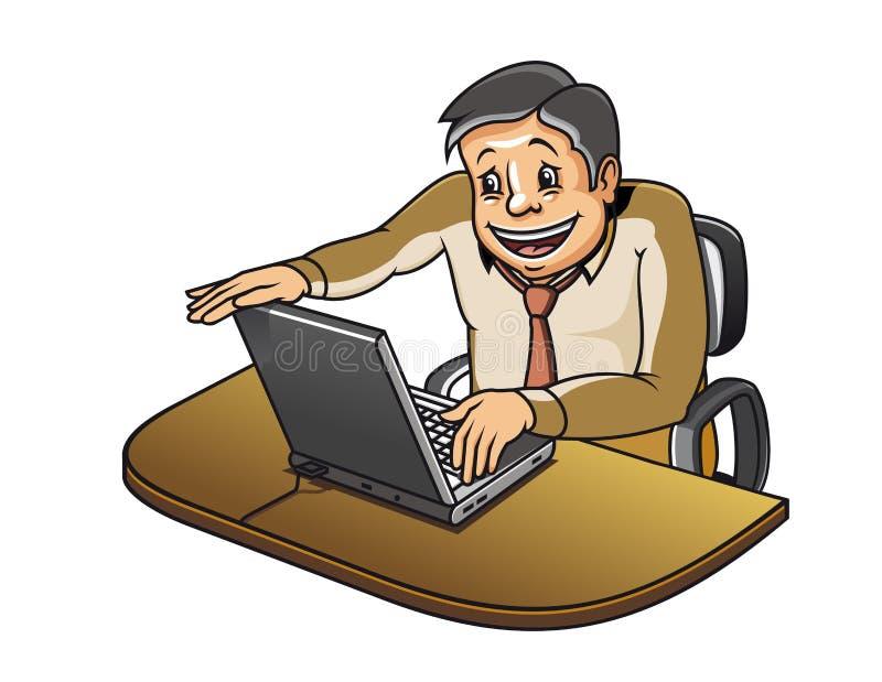 Jeune gestionnaire dans le bureau illustration de vecteur