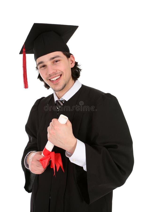 Jeune homme à la graduation image stock