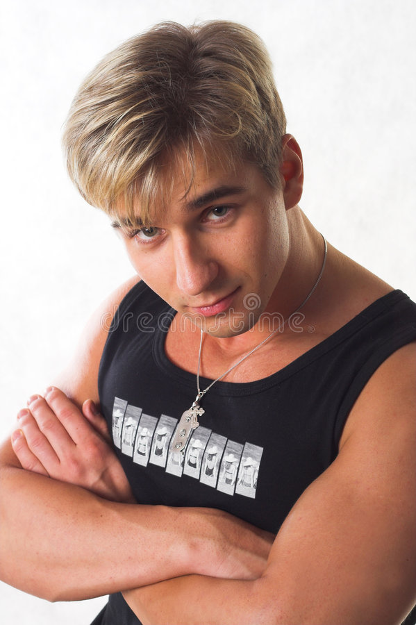 Jeune homme image stock