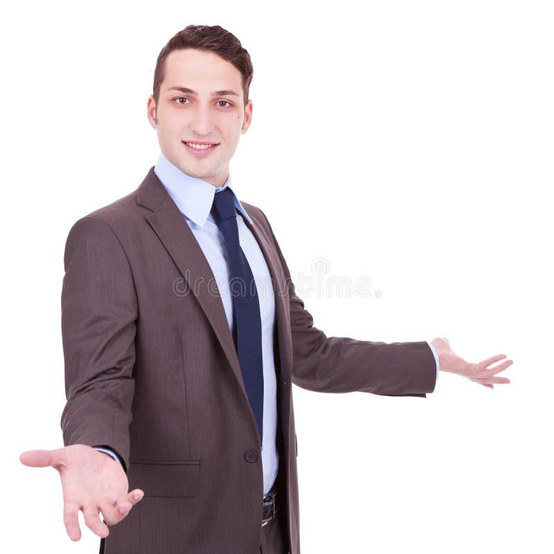 Jeune homme accessible d'affaires images stock