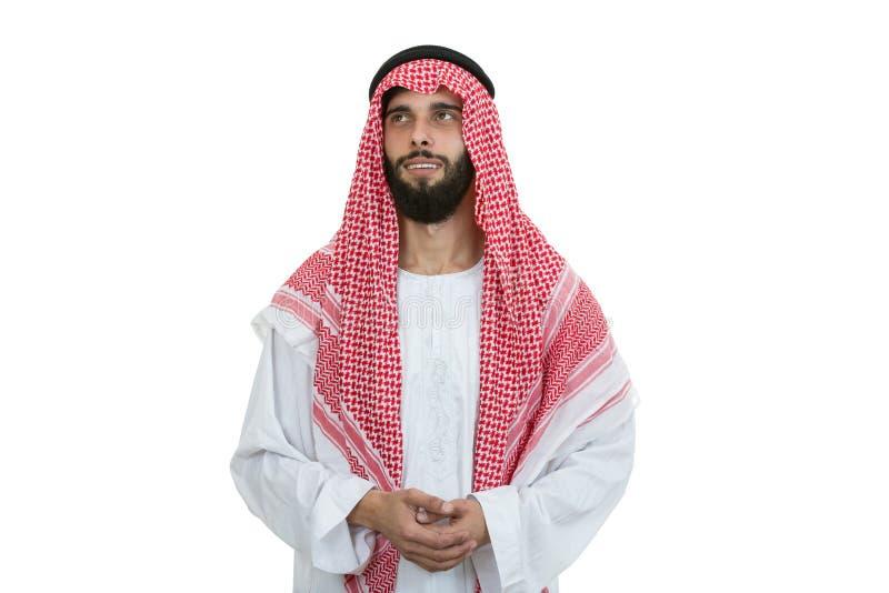 Jeune homme Arabe moderne semblant sérieux photo libre de droits