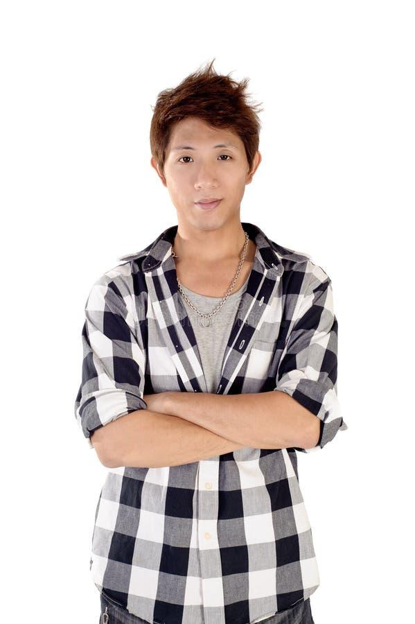 Jeune homme asiatique bel image stock