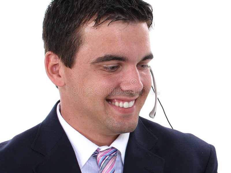 Jeune homme attirant WearingHeadset image libre de droits