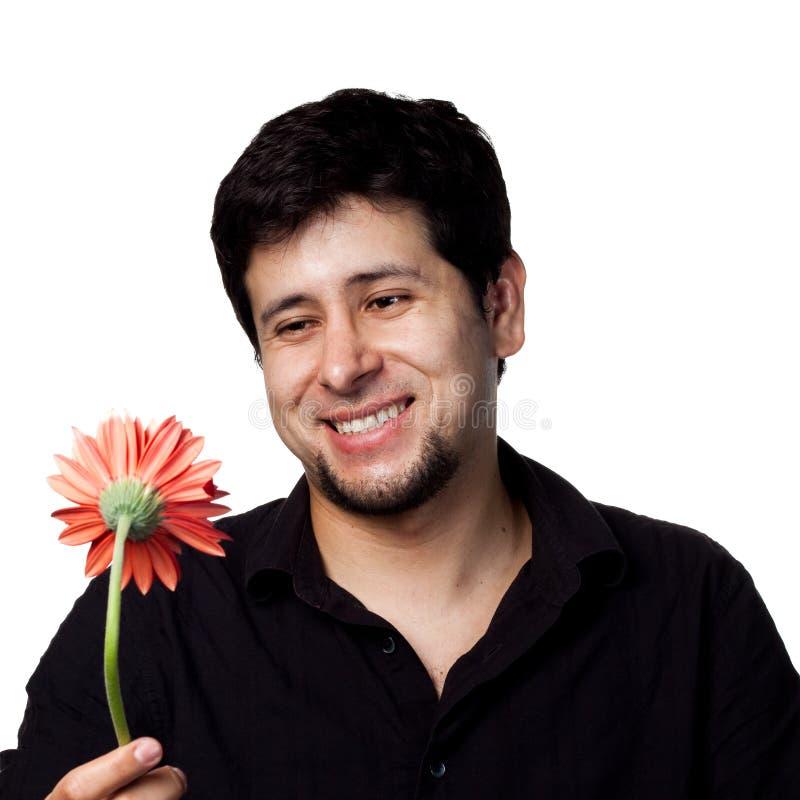 Jeune homme avec des fleurs photo libre de droits