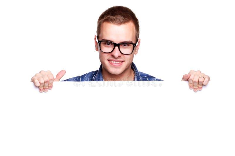 Jeune homme avec la plaquette image libre de droits