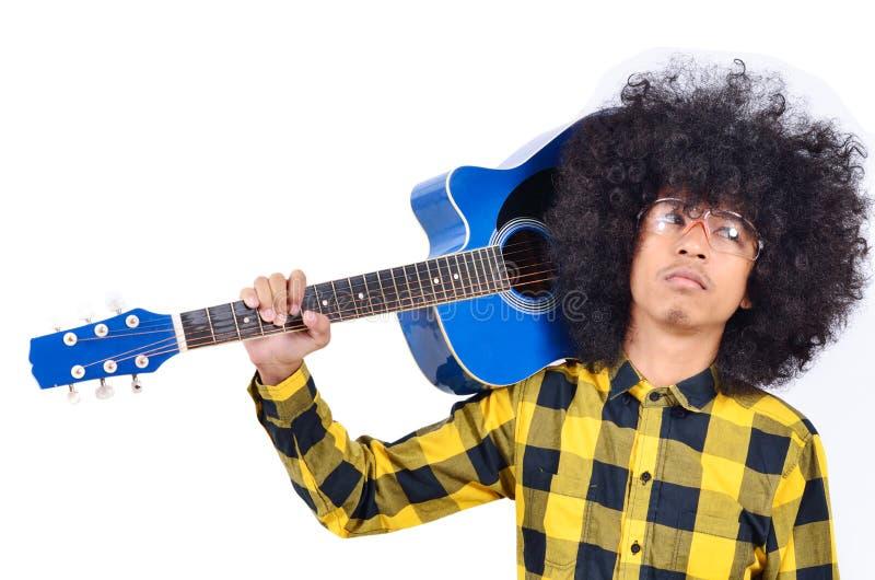 Jeune homme avec le long cheveu photos stock