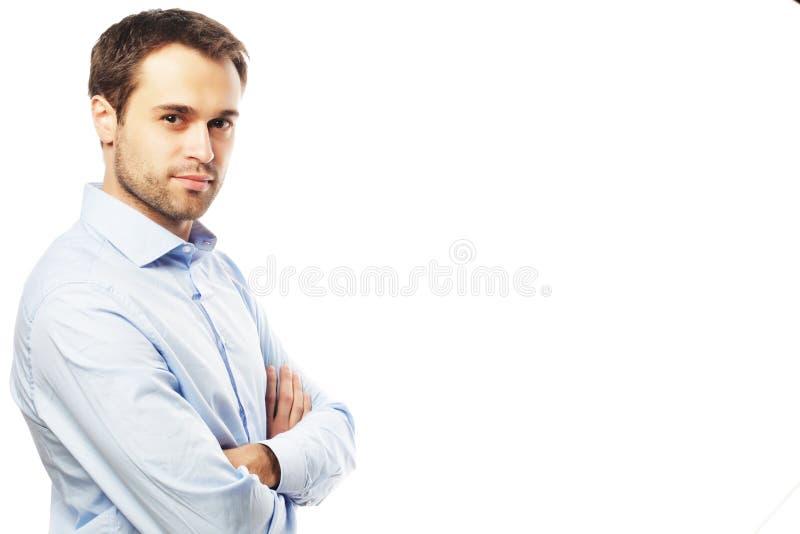 Jeune homme beau d'affaires image libre de droits