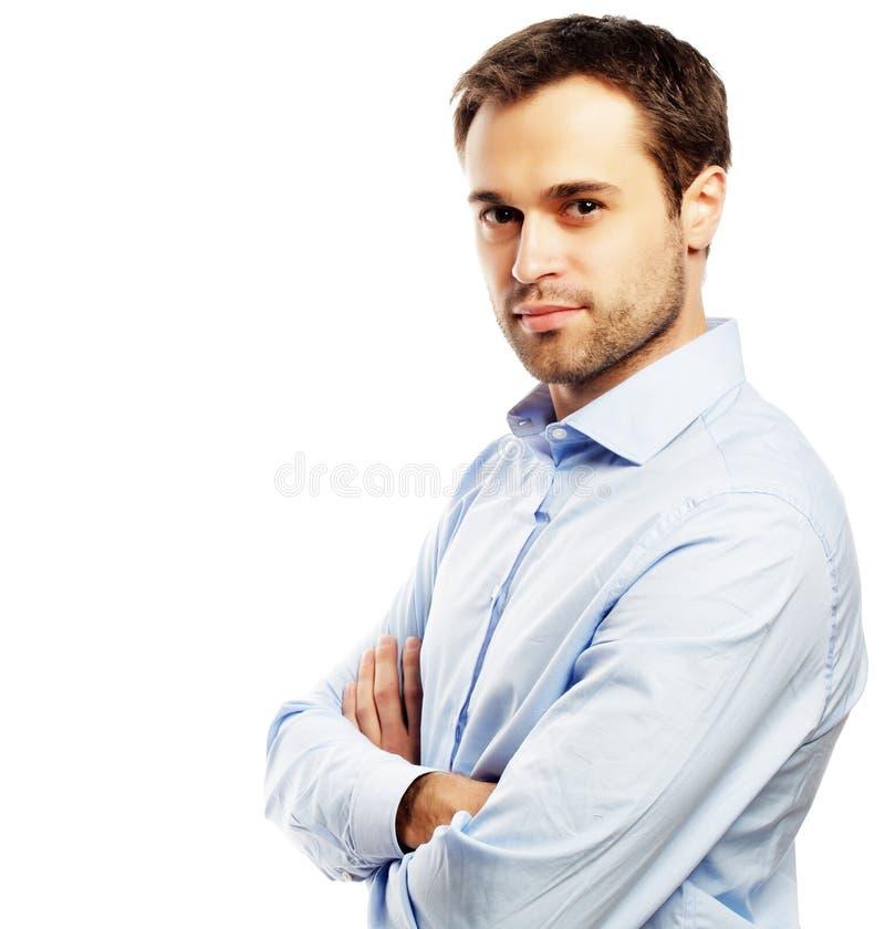 Jeune homme beau d'affaires images libres de droits