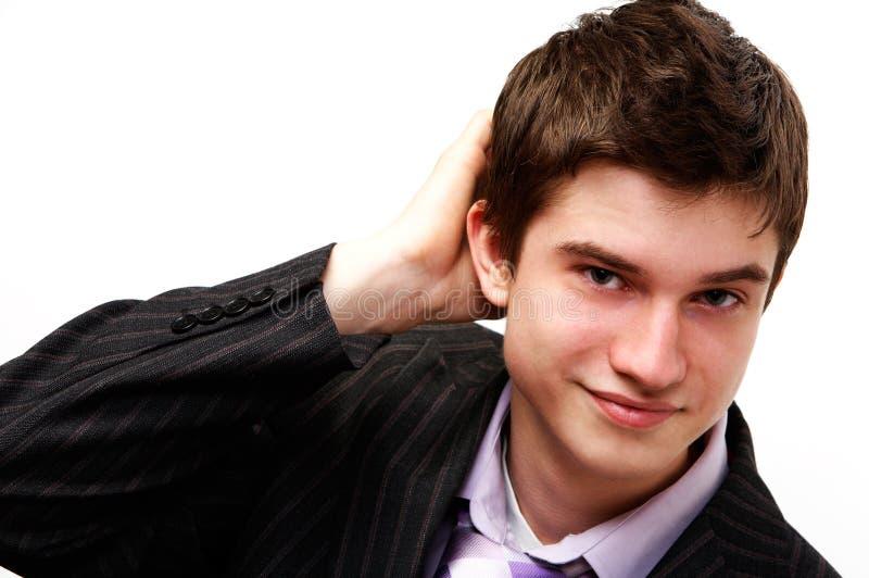 Jeune homme bel image stock