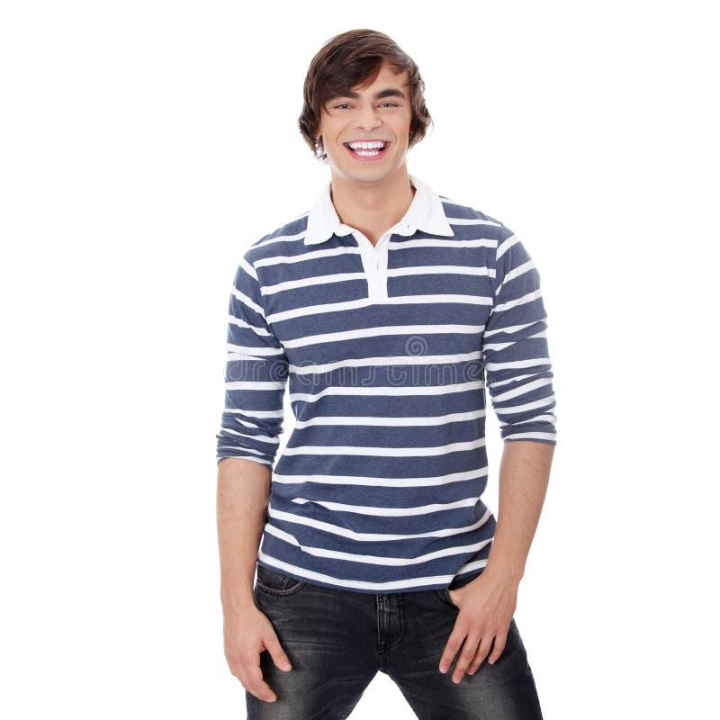 Jeune homme bel heureux photo libre de droits