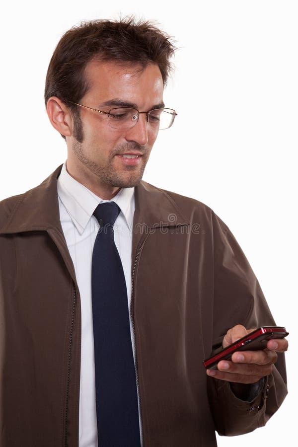 Jeune homme caucasien attirant dans le vêtement d'affaires images stock