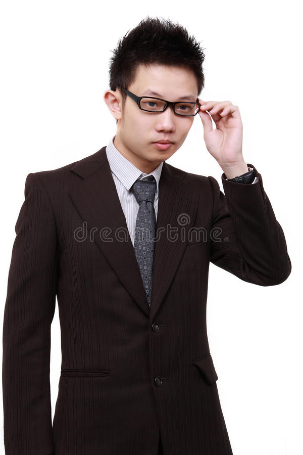 Jeune homme chinois d'affaires photographie stock