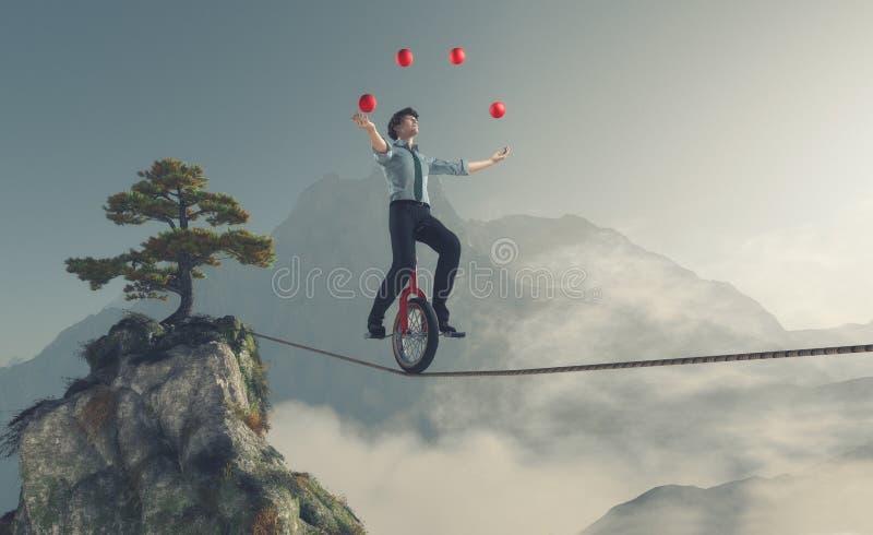 Jeune homme comme jongleur illustration libre de droits